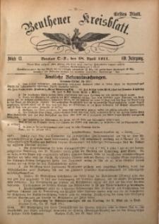 Beuthener Kreisblatt, 1911, Jg. 69, St. 17