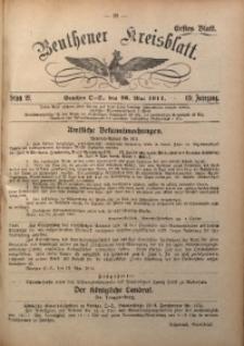 Beuthener Kreisblatt, 1911, Jg. 69, St. 21