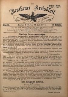 Beuthener Kreisblatt, 1911, Jg. 69, St. 29