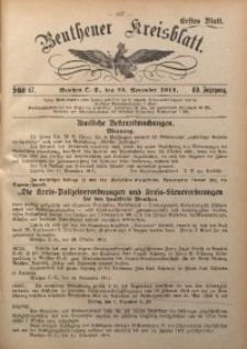 Beuthener Kreisblatt, 1911, Jg. 69, St. 47