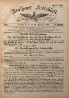 Beuthener Kreisblatt, 1912, Jg. 70, St. 7