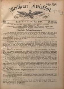 Beuthener Kreisblatt, 1912, Jg. 70, St. 17
