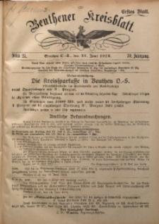 Beuthener Kreisblatt, 1912, Jg. 70, St. 25
