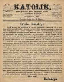 Katolik, 1871, R. 4, nr 12