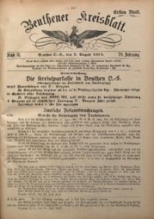 Beuthener Kreisblatt, 1912, Jg. 70, St. 31