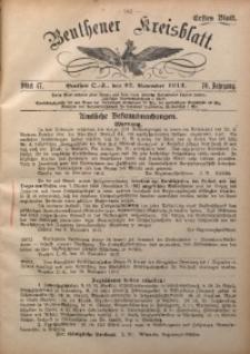 Beuthener Kreisblatt, 1912, Jg. 70, St. 47