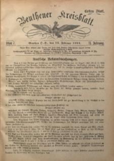 Beuthener Kreisblatt, 1913, Jg. 71, St. 7