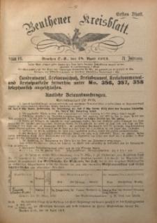 Beuthener Kreisblatt, 1913, Jg. 71, St. 16