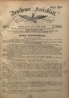 Beuthener Kreisblatt, 1913, Jg. 71, St. 27