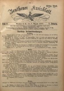 Beuthener Kreisblatt, 1913, Jg. 71, St. 31