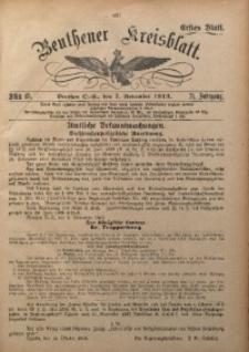Beuthener Kreisblatt, 1913, Jg. 71, St. 45