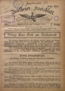 Beuthener Kreisblatt, 1915, Jg. 73, St. 1