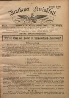 Beuthener Kreisblatt, 1915, Jg. 73, St. 4