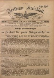 Beuthener Kreisblatt, 1915, Jg. 73, St. 10