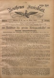 Beuthener Kreisblatt, 1915, Jg. 73, St. 11