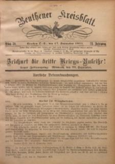 Beuthener Kreisblatt, 1915, Jg. 73, St. 38