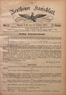 Beuthener Kreisblatt, 1915, Jg. 73, St. 42