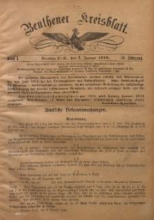 Beuthener Kreisblatt, 1916, Jg. 74, St. 1