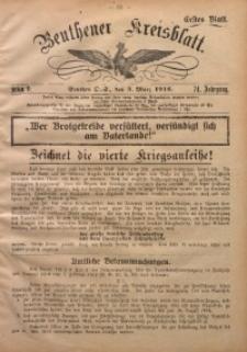 Beuthener Kreisblatt, 1916, Jg. 74, St. 9