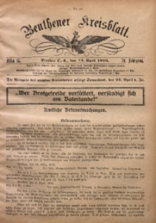 Beuthener Kreisblatt, 1916, Jg. 74, St. 15