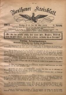 Beuthener Kreisblatt, 1916, Jg. 74, St. 21