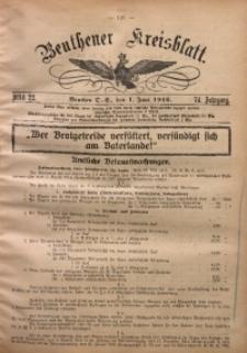 Beuthener Kreisblatt, 1916, Jg. 74, St. 22