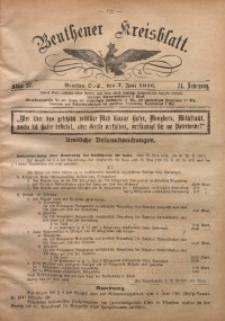 Beuthener Kreisblatt, 1916, Jg. 74, St. 27