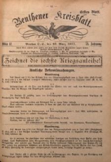 Beuthener Kreisblatt, 1917, Jg. 75, St. 12