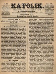 Katolik, 1871, R. 4, nr 35