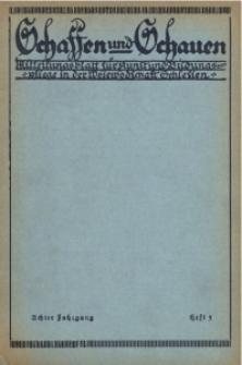 Schaffen und Schauen, 1931, Jg. 8, Nr. 3