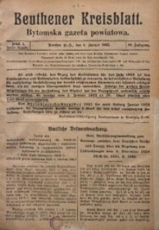 Beuthener Kreisblatt, 1922, Jg. 80, St. 1