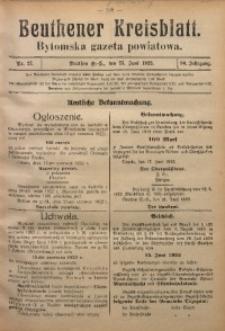 Beuthener Kreisblatt, 1922, Jg. 80, Nr. 27