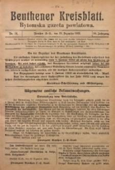 Beuthener Kreisblatt, 1922, Jg. 80, Nr. 56