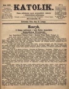 Katolik, 1872, R. 5, nr 7