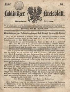 Lublinitzer Kreisblatt, 1858, Jg. 15, St. 16