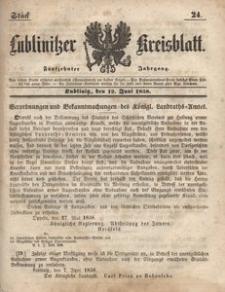 Lublinitzer Kreisblatt, 1858, Jg. 15, St. 24