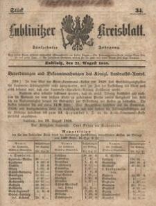 Lublinitzer Kreisblatt, 1858, Jg. 15, St. 34