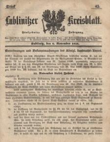 Lublinitzer Kreisblatt, 1858, Jg. 15, St. 45