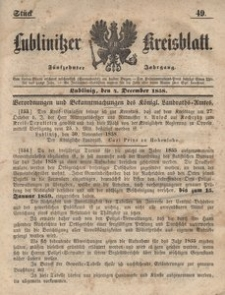 Lublinitzer Kreisblatt, 1858, Jg. 15, St. 49