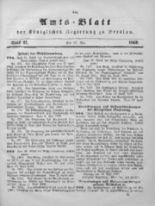 Amts-Blatt der Königlichen Regierung zu Breslau, 1869, Jg. 60, St. 21