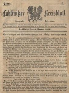 Lublinitzer Kreisblatt, 1863, Jg. 20, St. 1