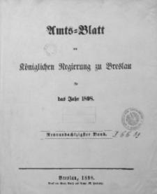 Sach-Register oder alphabetische Darstellung der in dem Amtsblatte der Königlichen Regierung zu Breslau vom Jahre 1898 enthaltenen Verordnungen und Bekanntmachungen