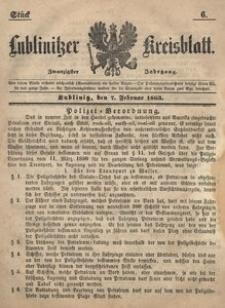 Lublinitzer Kreisblatt, 1863, Jg. 20, St. 6