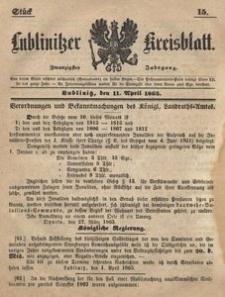 Lublinitzer Kreisblatt, 1863, Jg. 20, St. 15