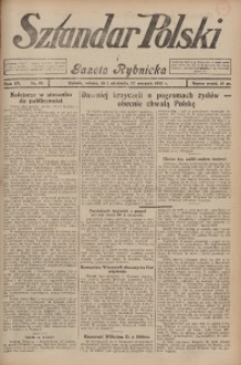 Sztandar Polski i Gazeta Rybnicka, 1933, R. 15, Nr. 99