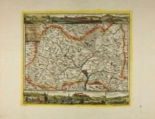 Mapa hrabstwa kłodzkiego z panoramami Lądka, Bystrzycy Kłodzkiej, Radkowa, Dusznik, Kłodzka i Lewina