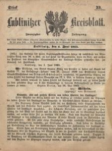 Lublinitzer Kreisblatt, 1863, Jg. 20, St. 23