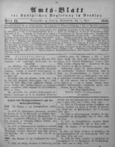 Amts-Blatt der Königlichen Regierung in Breslau, 1908, Bd. 99, St. 15