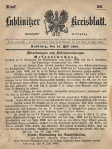 Lublinitzer Kreisblatt, 1863, Jg. 20, St. 29