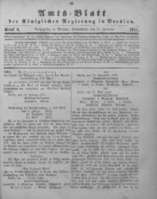 Amts-Blatt der Königlichen Regierung in Breslau, 1911, Bd. 102, St. 8